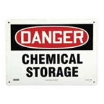 Chemical Storage Area Sign, Plastic (10 in. x 7 in.)